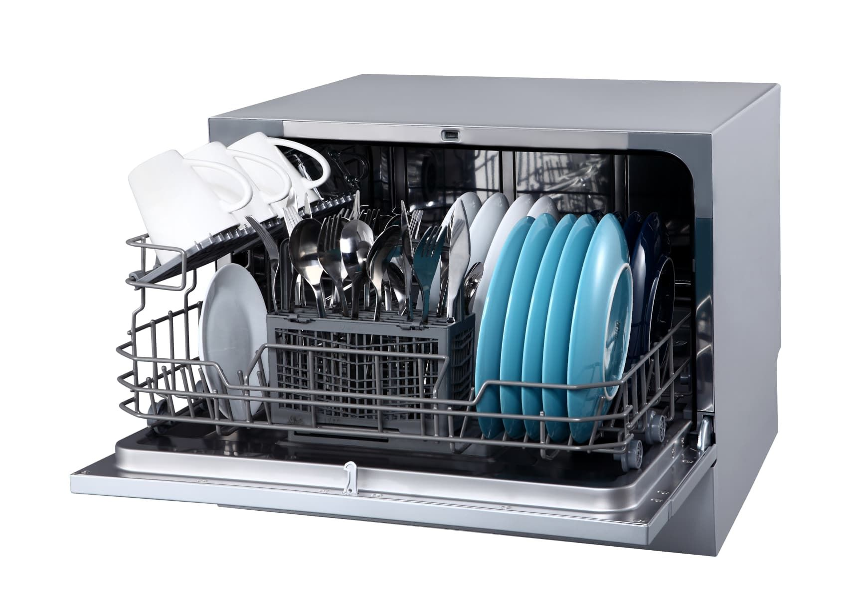 Edgestar Dwp62sv Silver 22 Inch Wide 6 Place Setting Energy Star Rated Countertop Dishwasher Countertop Dishwasher Small Dishwasher Compact Dishwasher