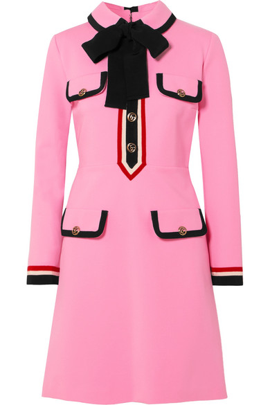434fa21ac Gucci | Grosgrain-trimmed jersey mini dress | NET-A-PORTER.COM ...