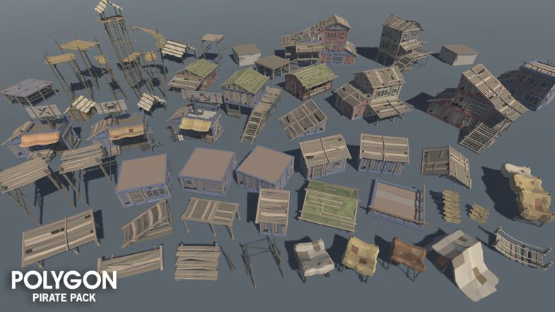 BIG ASSET PACK!!! Unity Awards 2017 Finalist A low poly