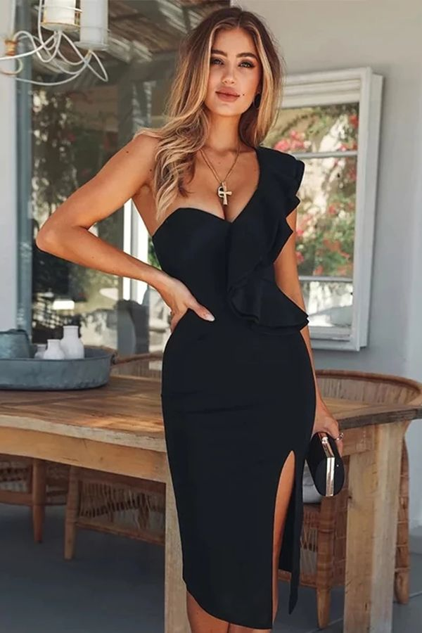 Photo of Ruffles One Shoulder Bodycon