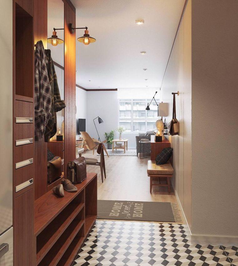 Idée de décoration pour entrée orientale de style asiatique