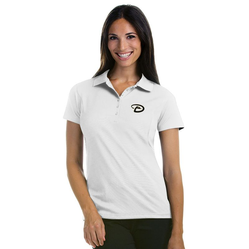 Arizona Diamondbacks Antigua Women's Pique Xtra-Lite Polo - White