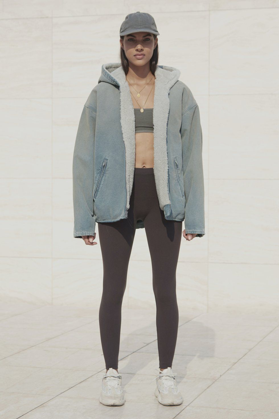 c7001be92 SHEARLING LINED CANVAS JACKET GLACIER | YEEZY SEASONS | Canvas ...