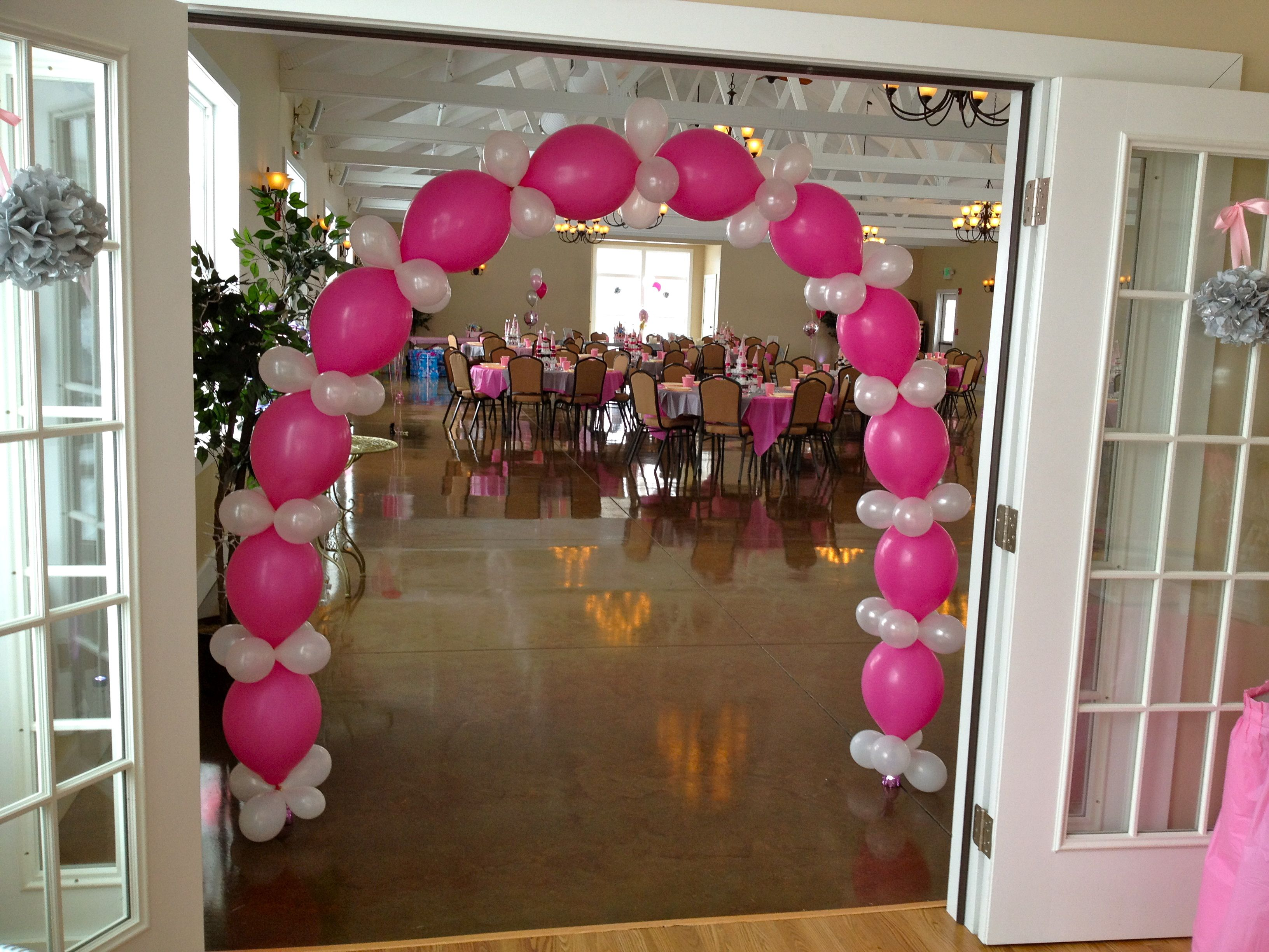balloon arch for princess themed baby shower baby shower ideas