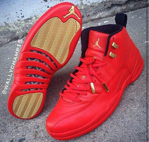 All red 12s.❤️ | Sneakers, Sneaker