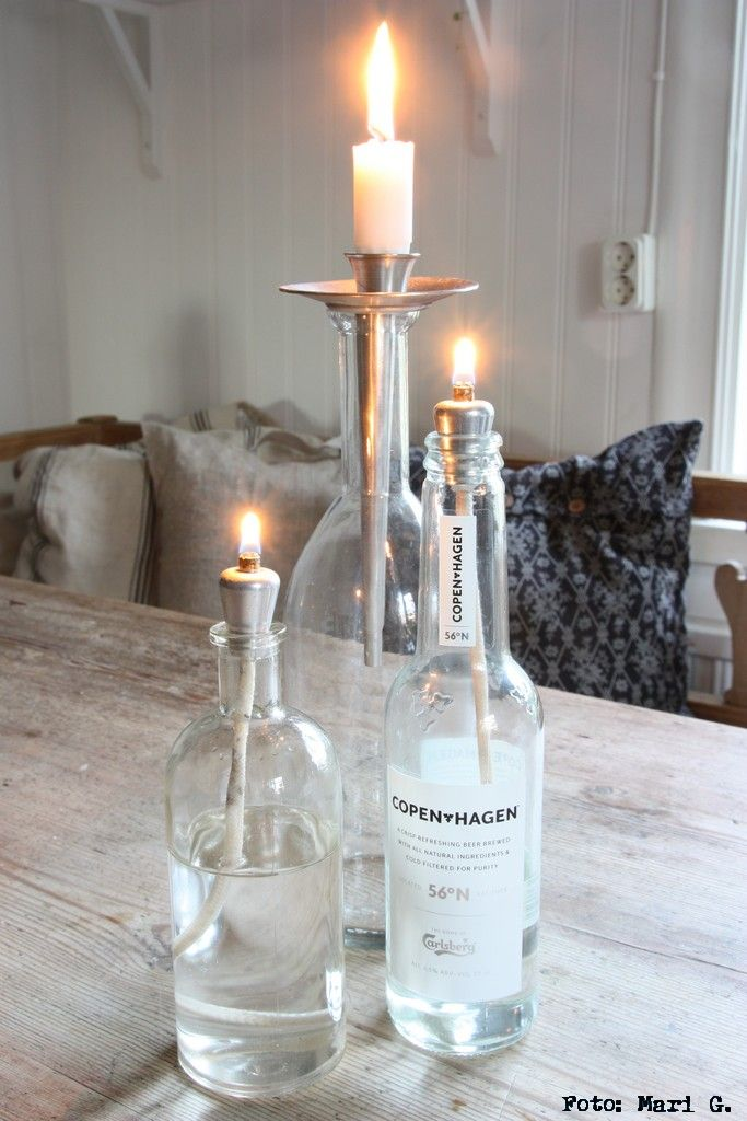 candle & bottle oil lamps