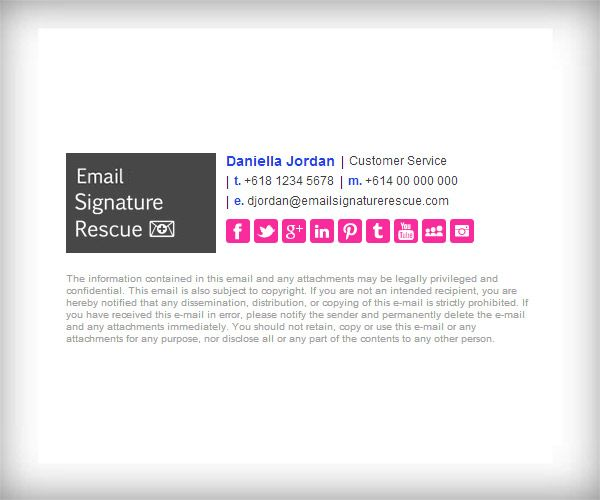 Horizontal Email Signature Template with 150x100 Logo - Like this - email signature template