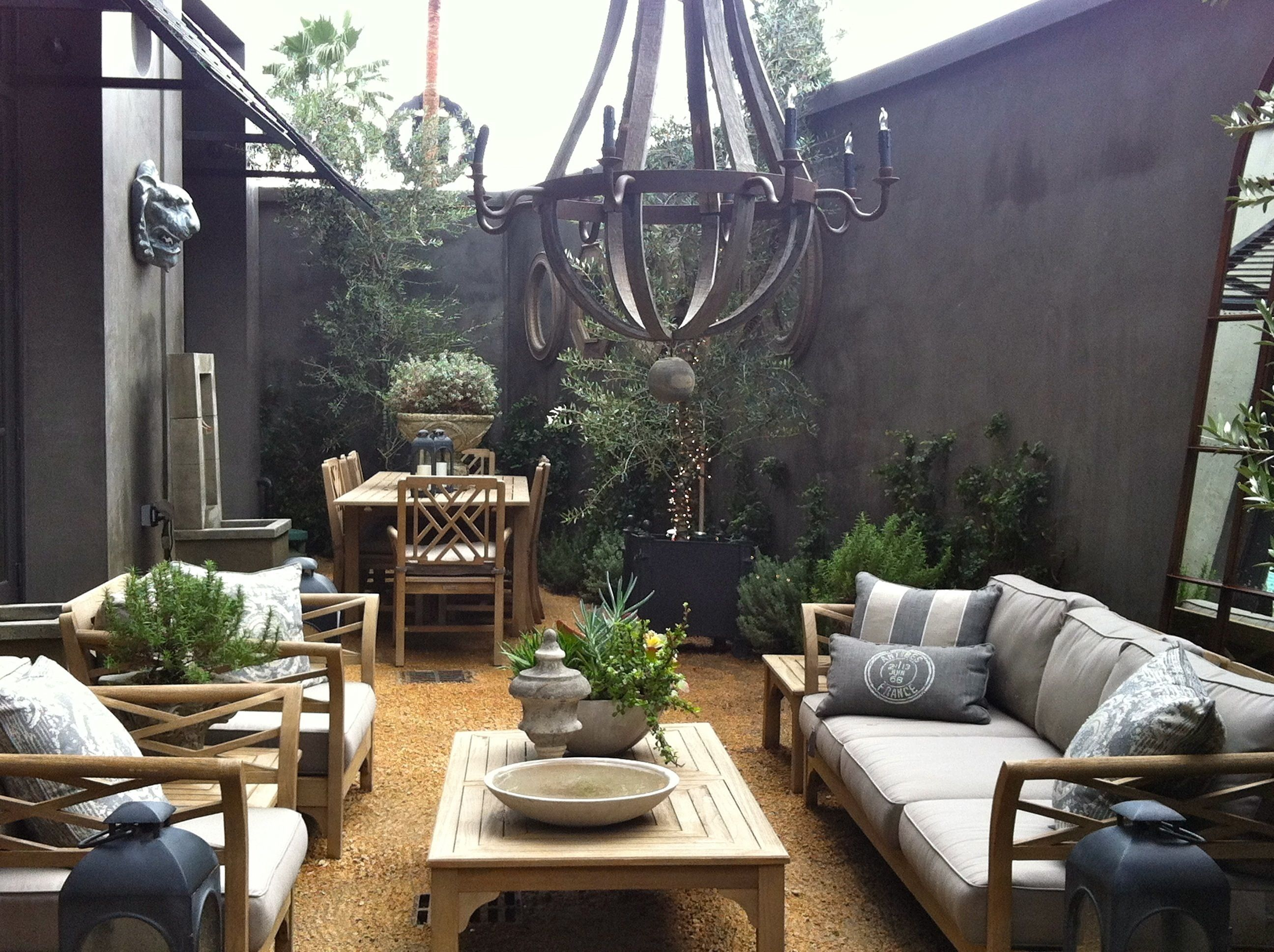 Shades Of Gray Patio Restoration Hardware Outdoor
