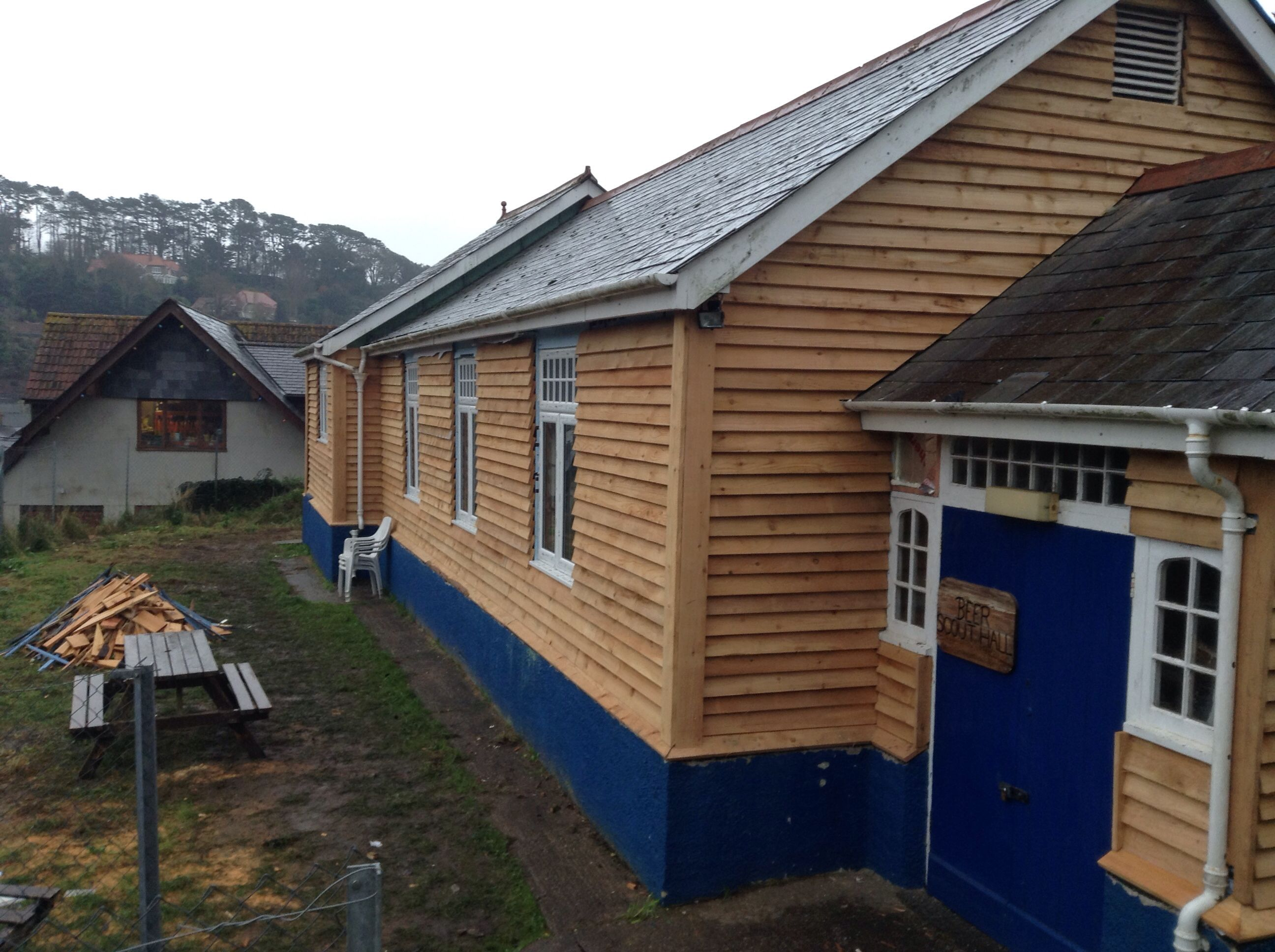 Customer project-scout hut in somerset