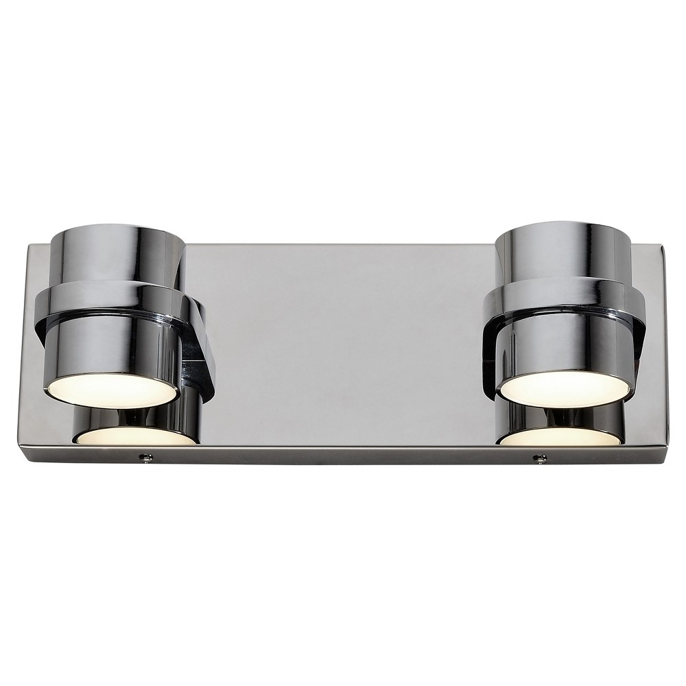4 Twocan 2 Arm Led Bath Fixture Polished Chrome Finish Varaluz Polished Chrome Bath Fixtures Bath Light