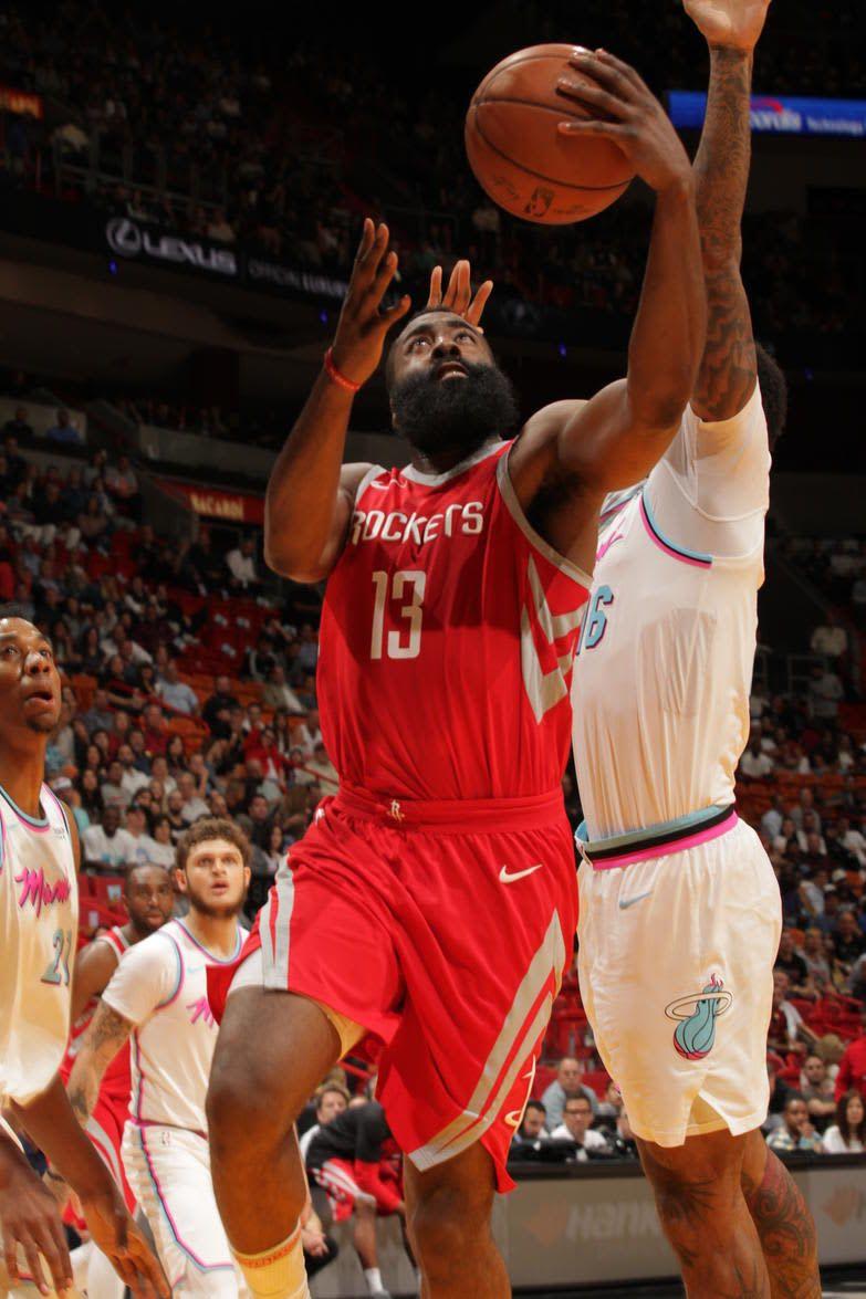 RocketsMobile Houston Rockets v Miami Heat Houston