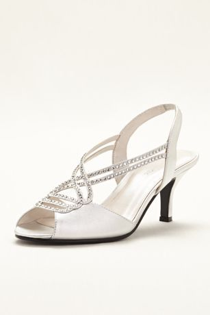 Caparros Mid Heel Sandal With Crystal Straps Sandals Heels Dress Shoes Womens Mid Heel Sandals