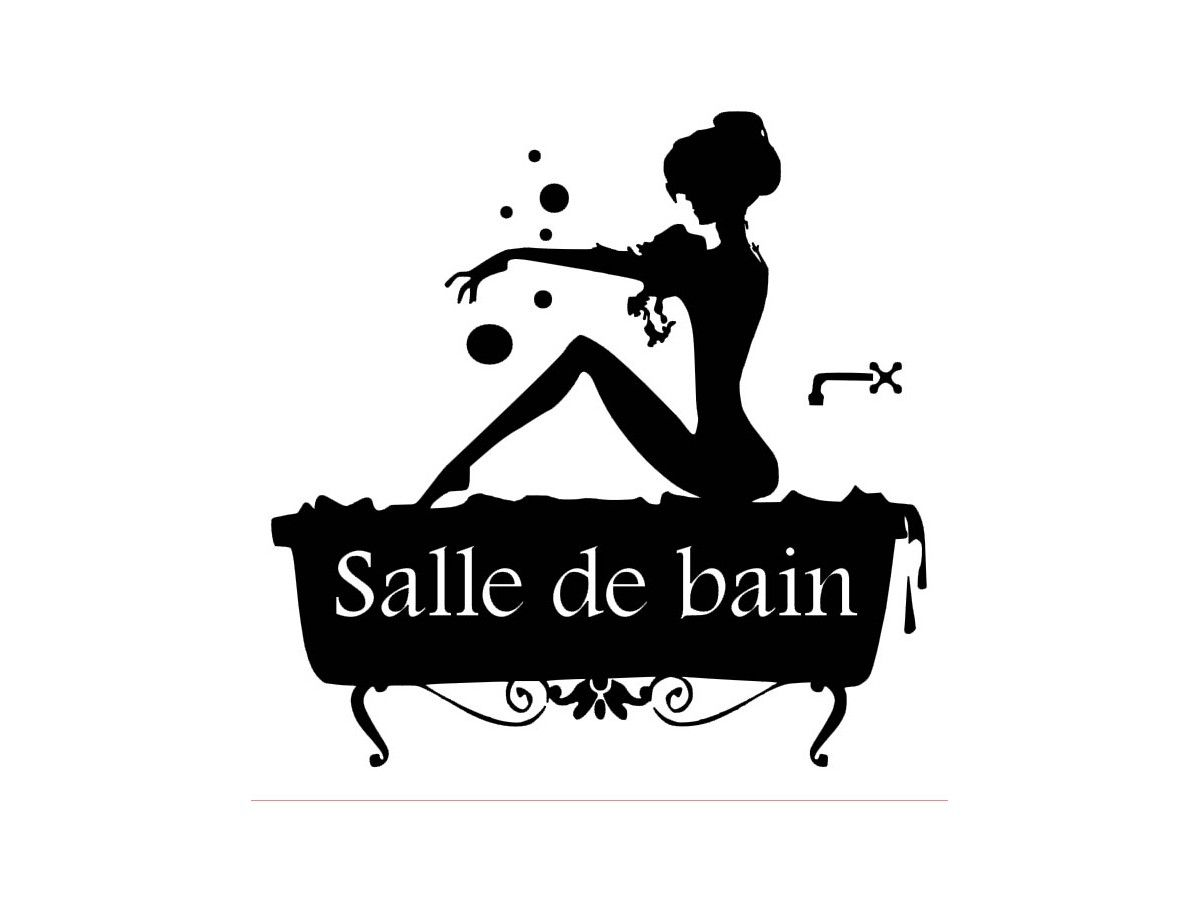 Salle De Bain Stickers ~ stickers porte salle de bain 1 pochoirs pinterest porte salle