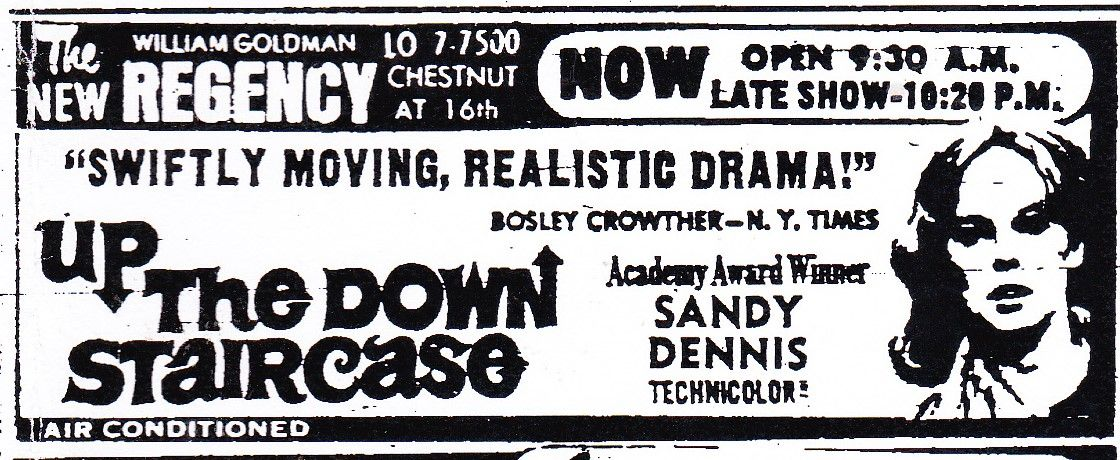 Ad For Up The Down Staircase From The Evening Bulletin