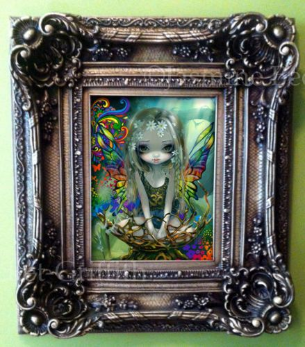 Paisley-Jasmine-Becket-Griffith-ORIGINAL-PAINTING-big-eye-hippie-fairy-faery-art