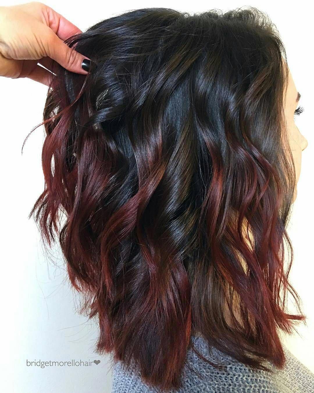 Gorgeous Balayage Short Hair Balayageshorthair Subtle Hair Color Hair Styles Wine Hair