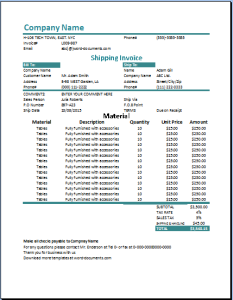 Shipping Invoice Microsoft Templates Pinterest Template And - Shipping invoice template