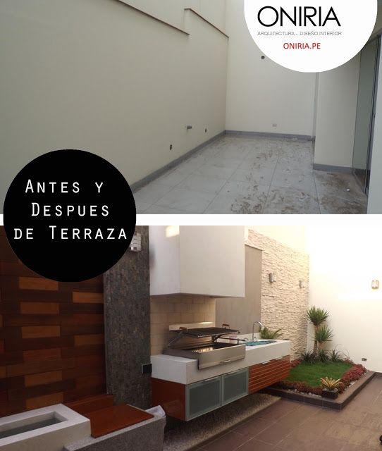 Oniria antes y despu s remodelaci n de terraza my for Remodelacion de casas pequenas