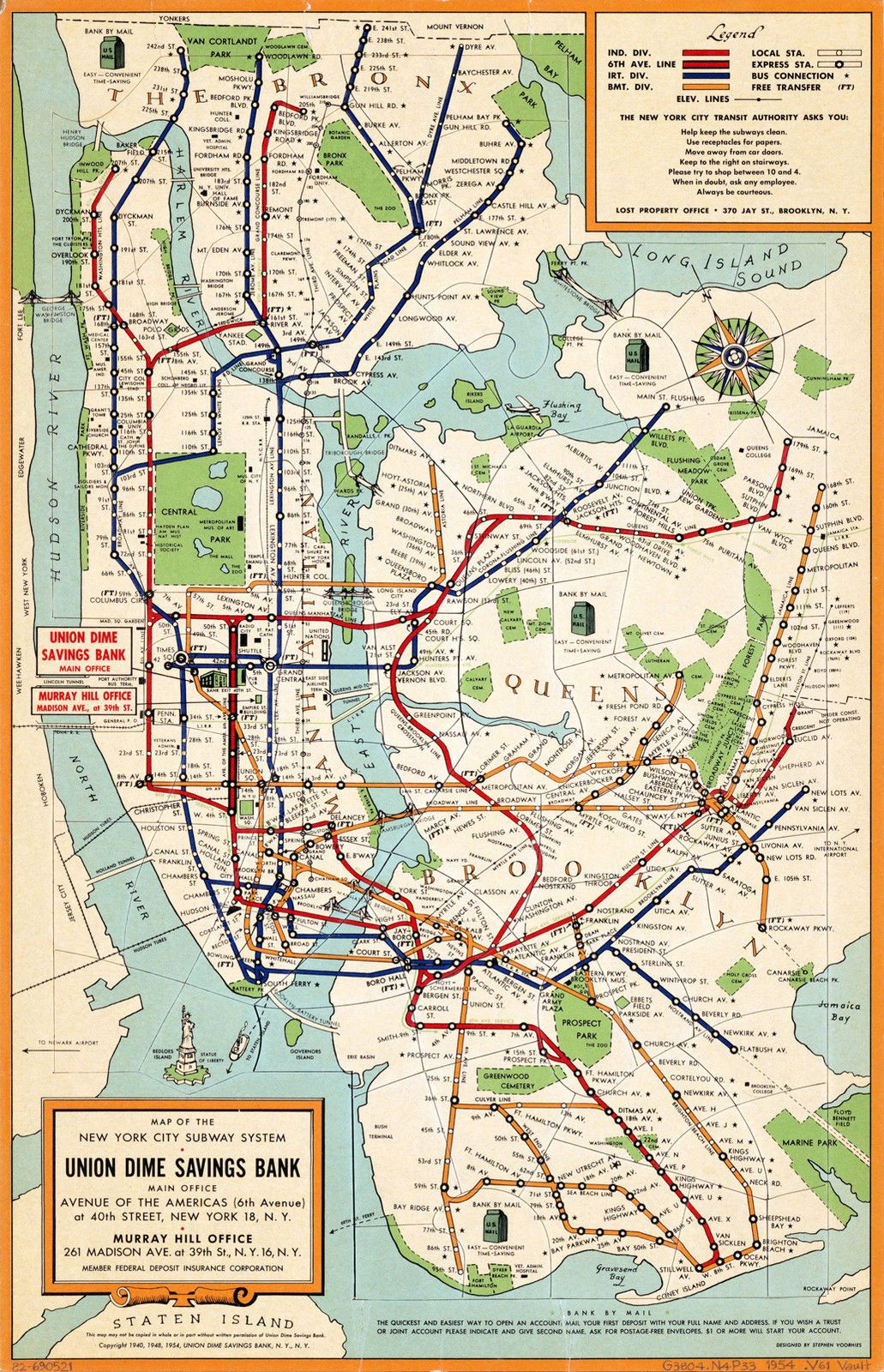 New York Subway Map To Print.Early York City Subway System Map Wall Poster Print Decor Vintage