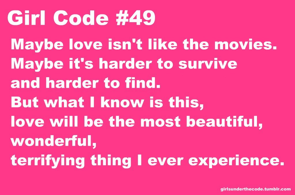 Girl code rules about dating