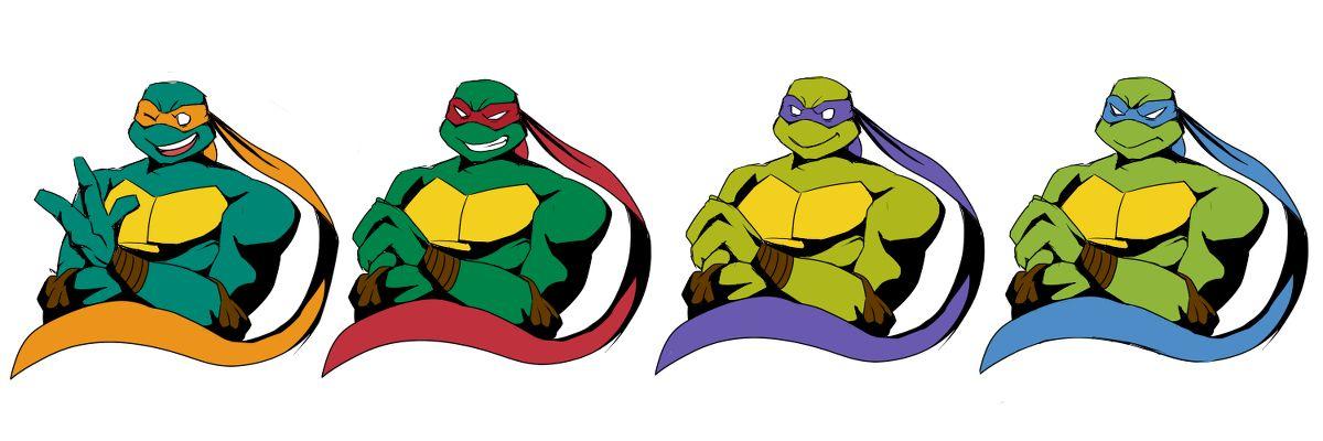 Tmnt 2003 Mikey Raph Donnie And Leo Teenage Mutant Ninja