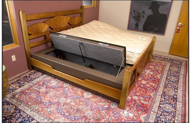 Diy Under Bed Gun Safe Beds And Bed Frames Bed Storage Bed