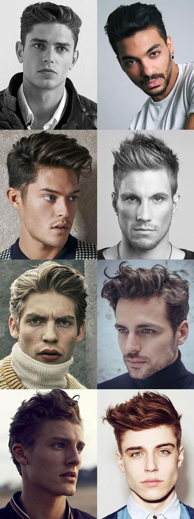 Menus hairstyle trends textured quiffs barber pinterest