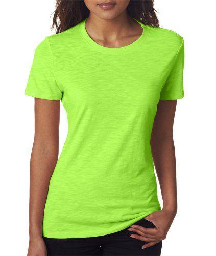 Next Level Women S Unique Fashion Crewneck T Shirt Neon Heather