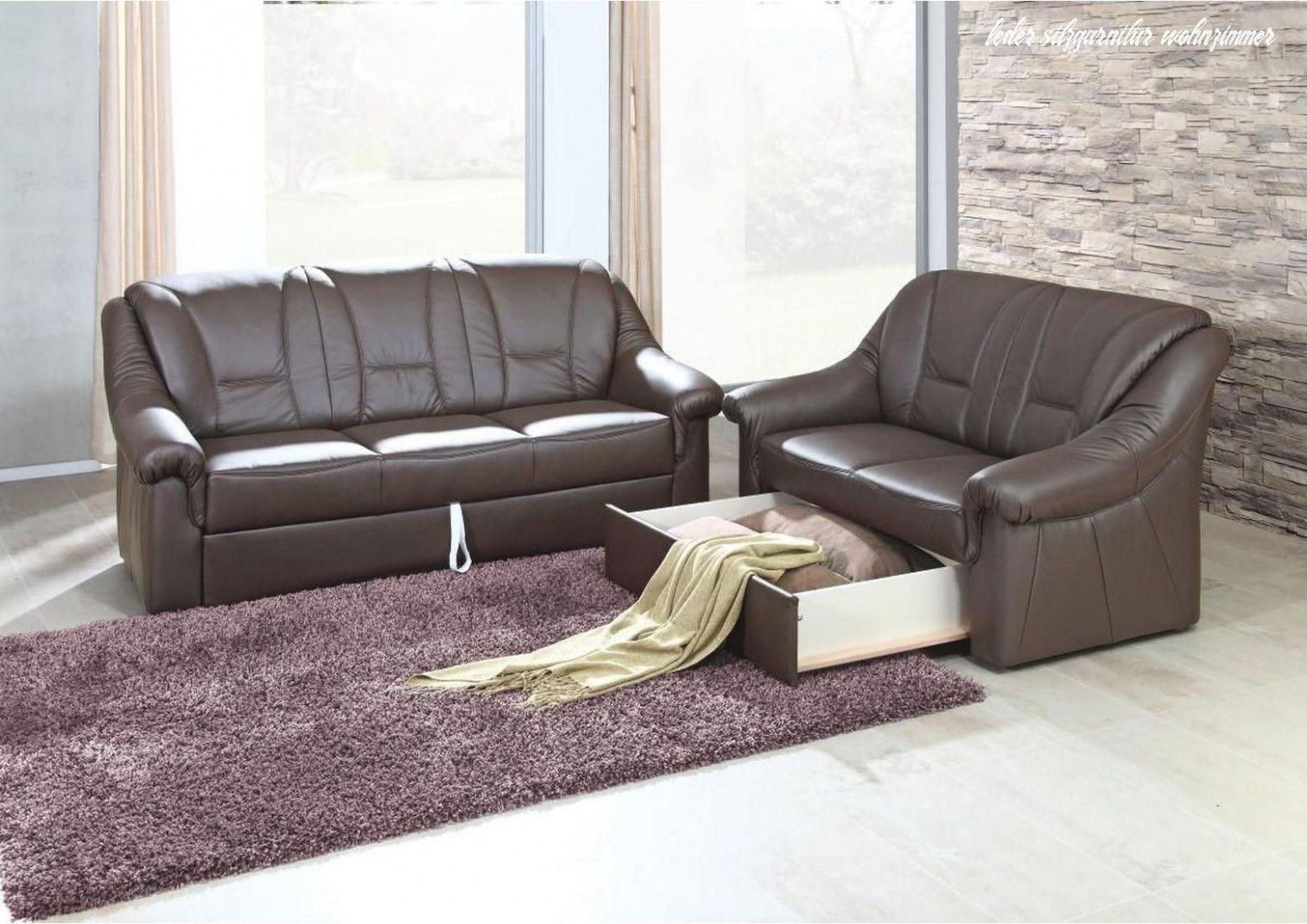 Leder Sitzgarnitur Wohnzimmer