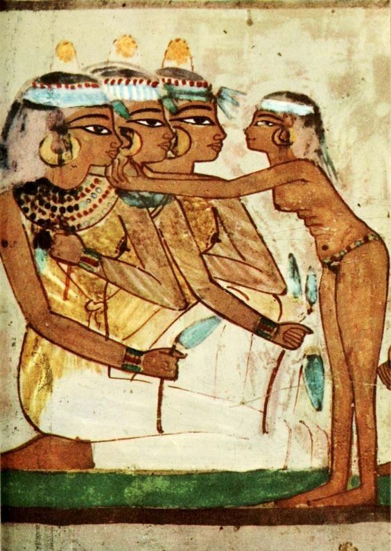 Ancient   Egyptian Wall Paintings 1956, Tomb Of Nakht   Banqueting Scene  Egypt