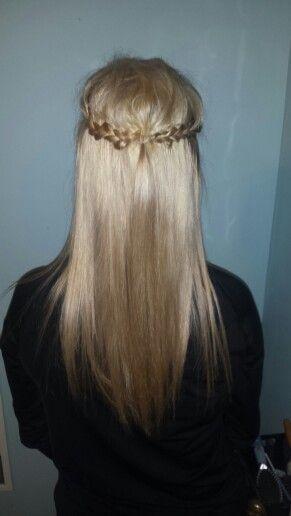 Braided Half Braid with Straight Hair