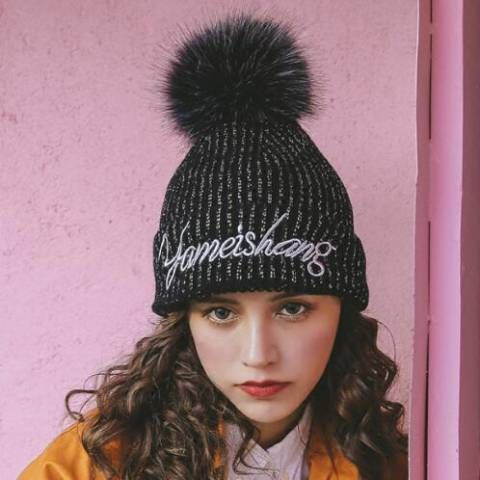 ecc33dd1887 Winter Knit Hats · Bobble Hats · Pom Pom Hat · Hats For Women · Letter ·  https   www.buyhathats.com yameishang-letter-embroidered-