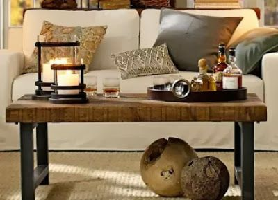 Nice Pottery Barn Griffin Coffee Table Out Of Reclaimed Pine  LOVE IT.