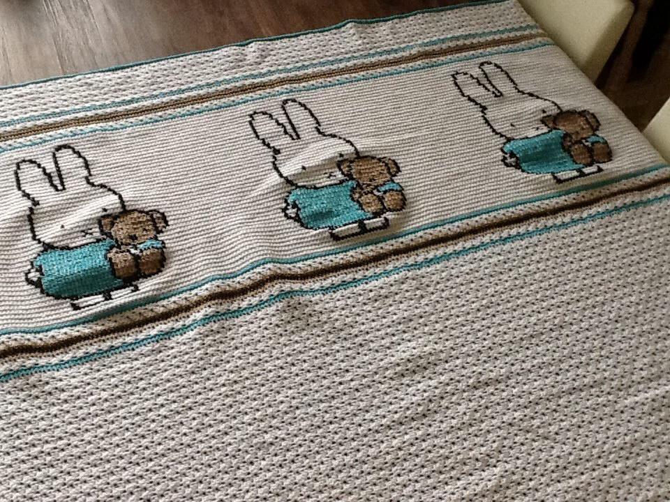 Gehaakt Nijntje Deken Haakwerk Crochet Crochet Baby Knitted