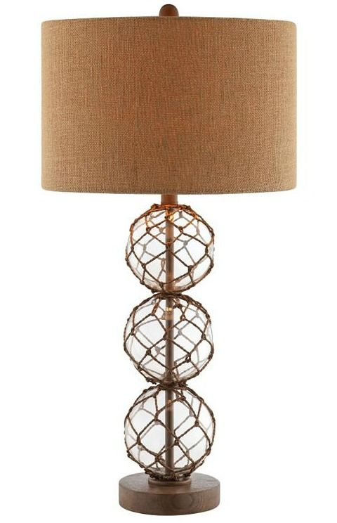 Breeze glass float net lamp from kohls http www completely coastal com 2012 05 coastal lamps inspired by fishing glass html