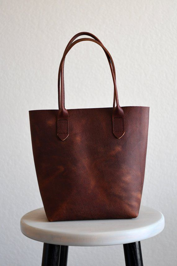 4329a2582b8 Leather Market Tote Bag in Rustic Red Kodiak Leather | Products ...