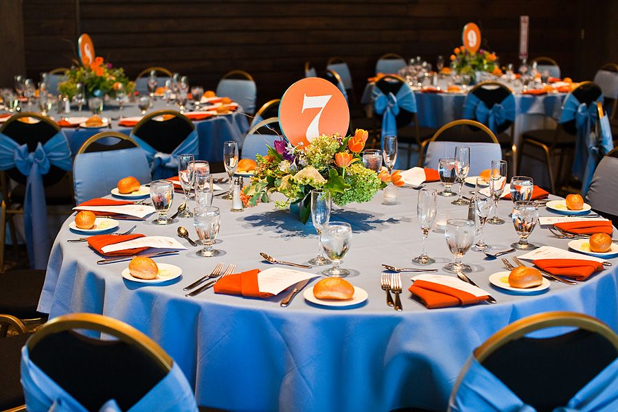 Blue And Orange Wedding Centerpieces | ... and they were a nice ...