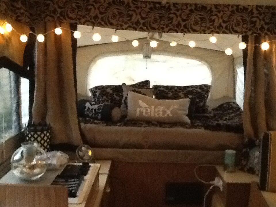 Pimped my pop up | Camper hacks, Remodeled campers, Best ...
