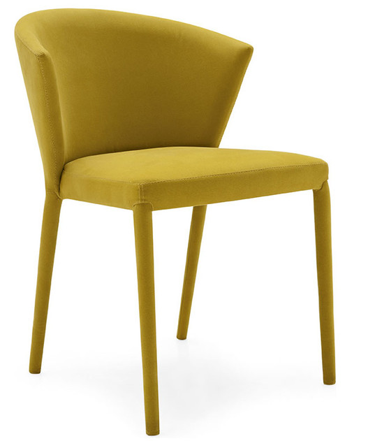 Houzz Dining Chairs Contemporary Teak Folding Canada Amelie Mustard Yellow 964 Usd The Set Of 2
