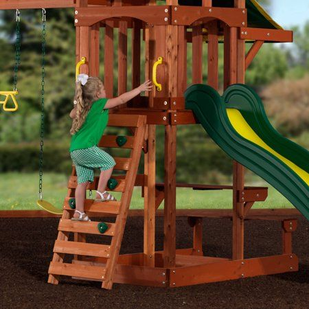 Toys | Wooden swings, Backyard for kids, Wood swing sets