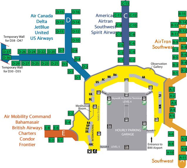 baltimore international airport terminal map Pin By Andrew Sanchez On Airport Directories Airport Map baltimore international airport terminal map