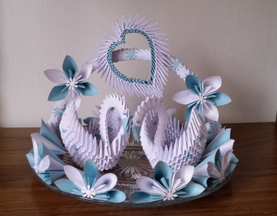 Wedding Swan Plate 1 Orgami Pinterest Origami 3d Origami And