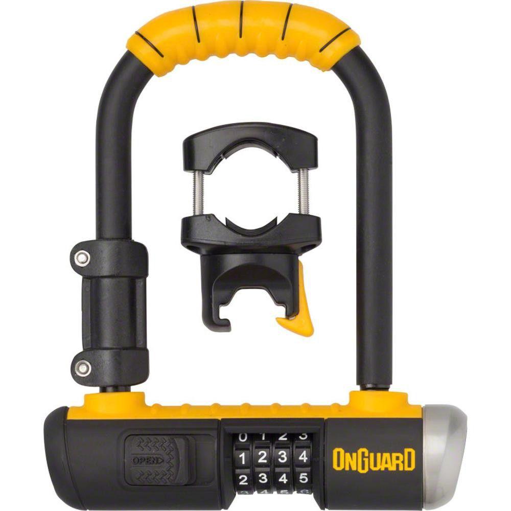 Onguard Combo Mini U Lock 3 5 X 5 5 Combination Black Yellow