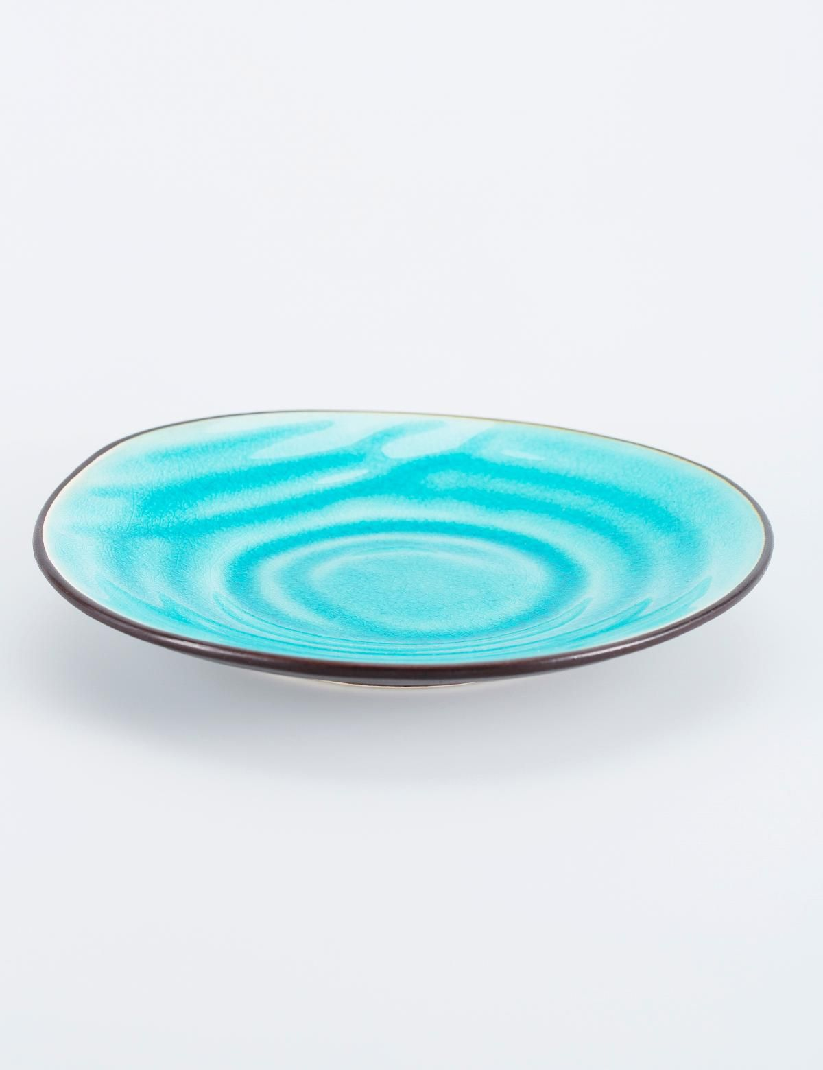 Crackle Assiett Turkos Plates Ceramic Glass Glas Porslin Inredning Indiska Shop Online Porslin Turkos Inredning