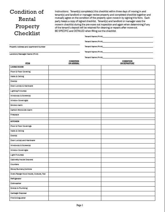 Inventory checklist template rental inventory sheet templates inventory checklist template rental maxwellsz