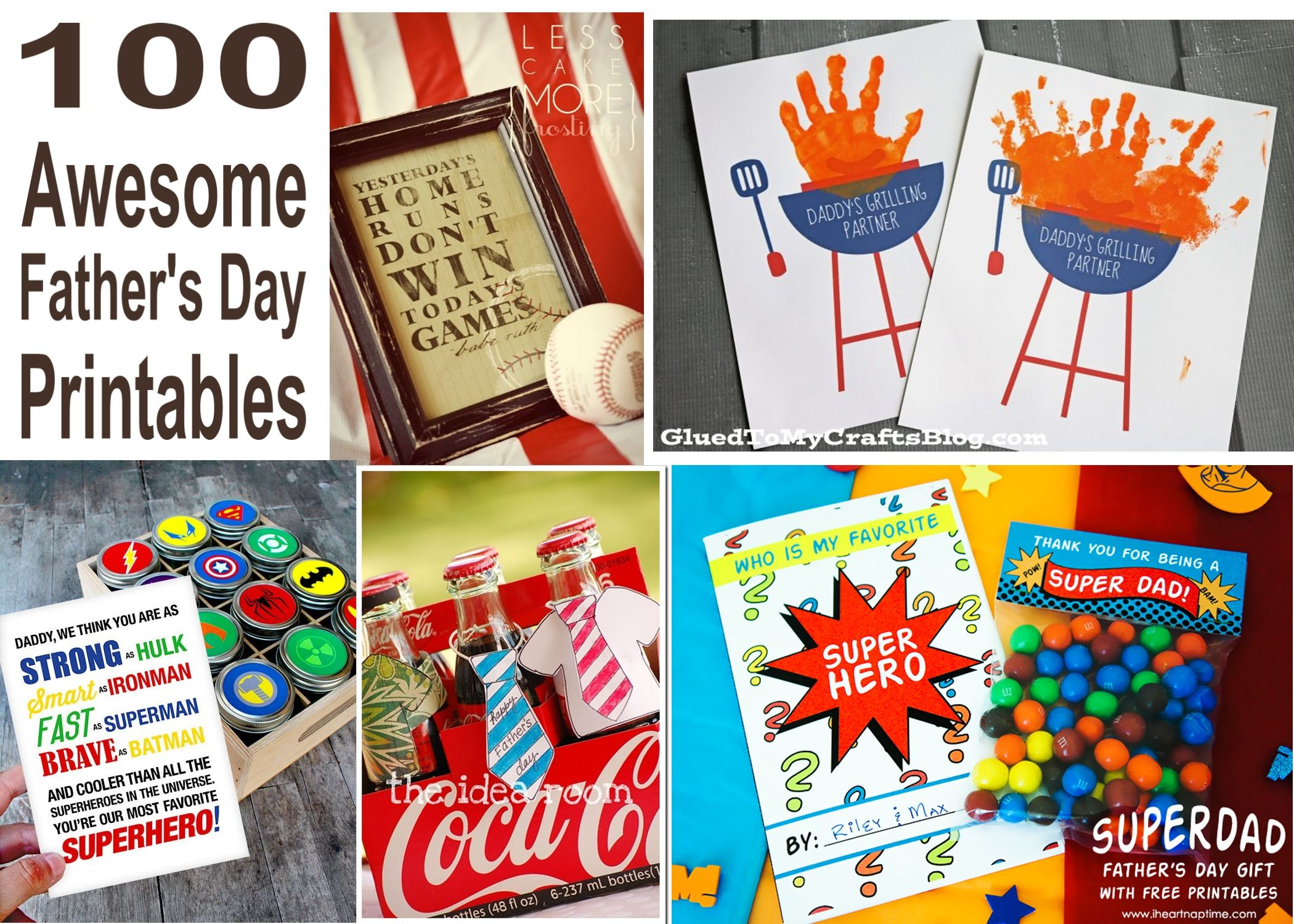 100 Awesome And Free Father S Day Printables