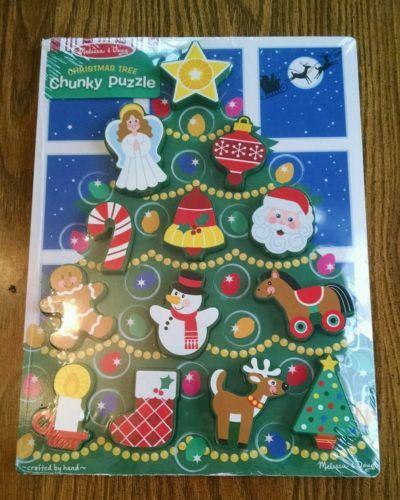 Melissa And Doug Chunky Christmas Tree Puzzle   Go Shop Hobbies U0026 Toys