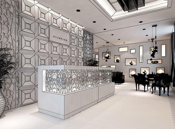 3d Models Clothing Showroom Interior 3d Model Max Cgtrader Com