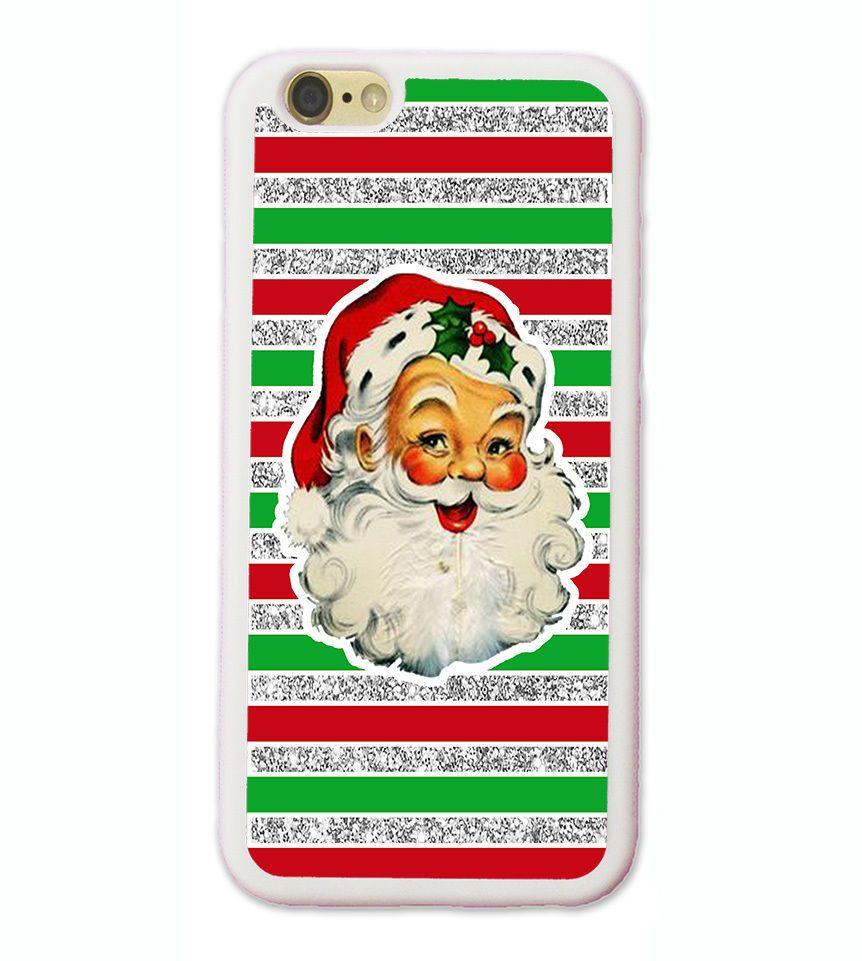 SILVER VINTAGE CHRISTMAS SANTA CLAUS CUSTOM PHONE Case FOR IPHONE X
