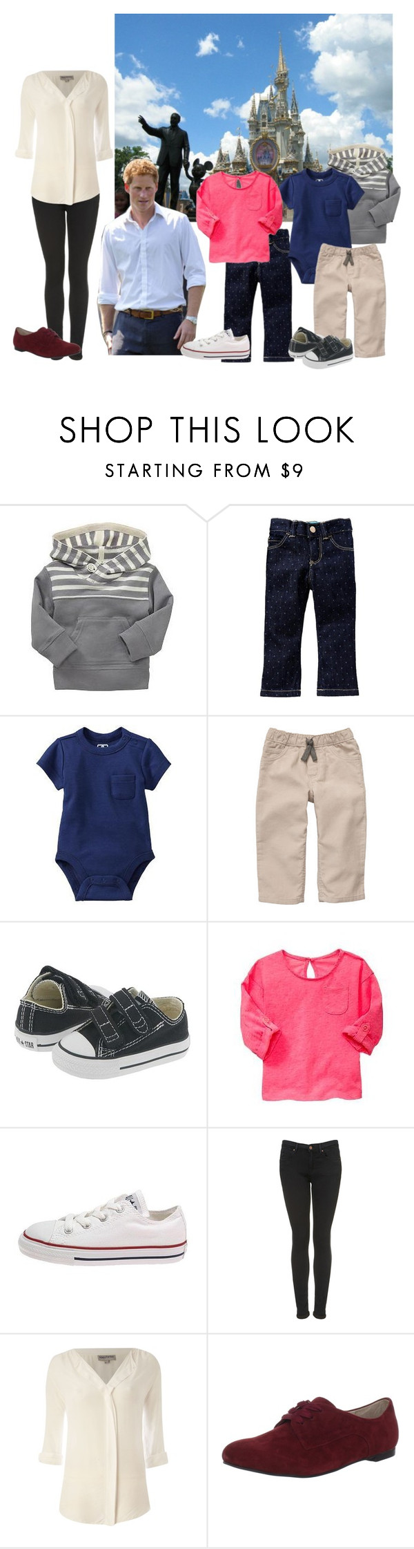 """""""Harry and His Wife Visiting Walt Disney World With Their Children"""" by royally-dressed ❤ liked on Polyvore featuring Disney, Gap, Old Navy, Citizen, Converse, Topshop, Mary Portas, All Black and prince harry"""